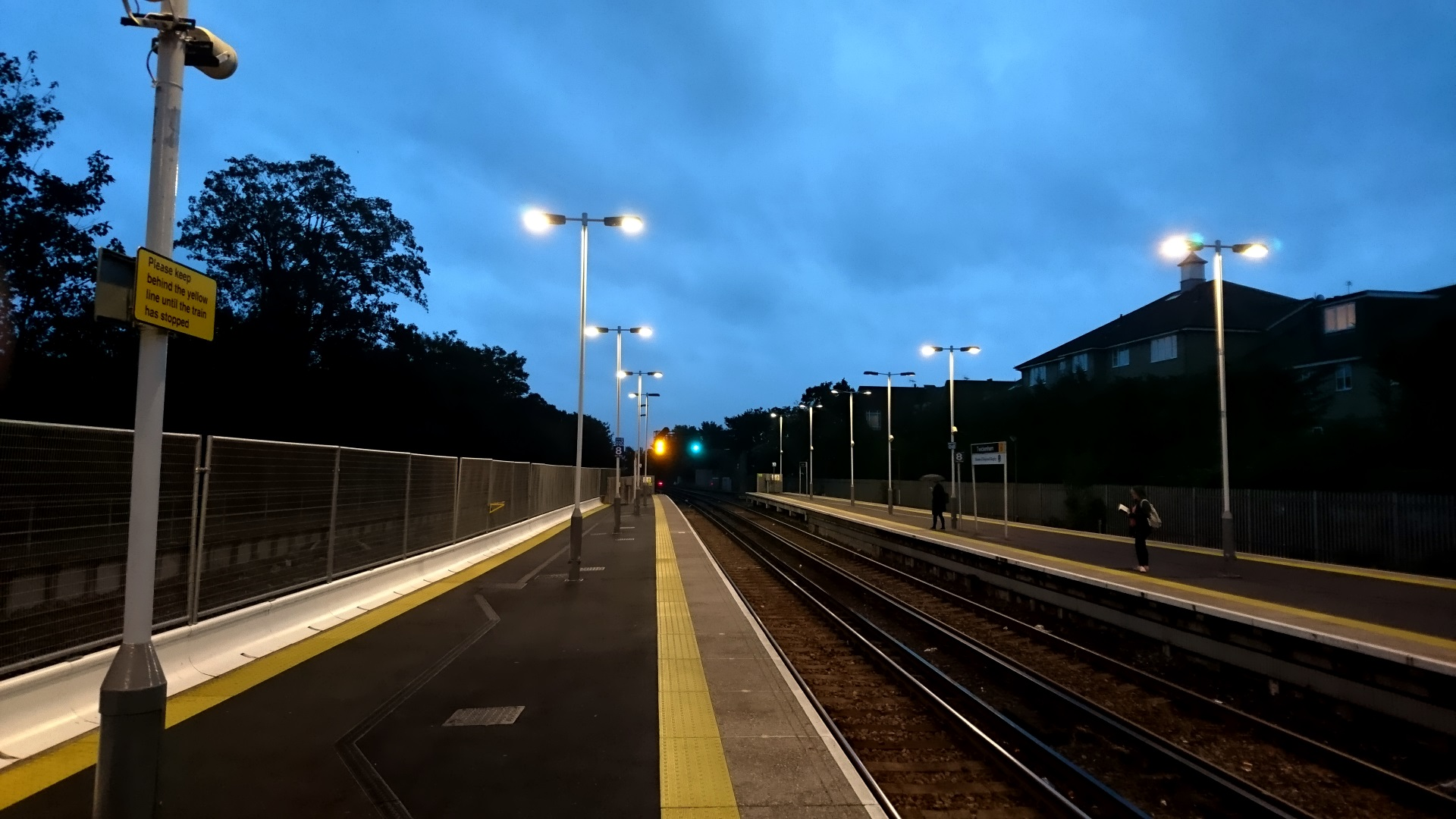 Early morning train platform